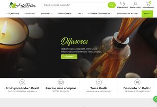 Website artefeita.com.br desktop preview