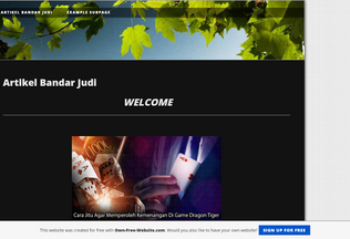 Website artikelbandarjudi.page.tl desktop preview