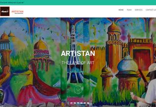 Website artistan.pk desktop preview