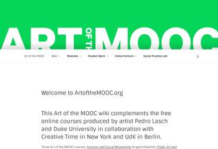 Website artofthemooc.org desktop preview