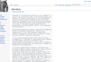 Website artvalvas.net desktop preview