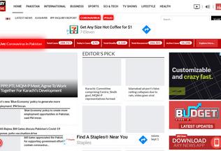 Website arynews.tv desktop preview