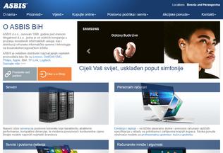 Website asbis.ba desktop preview
