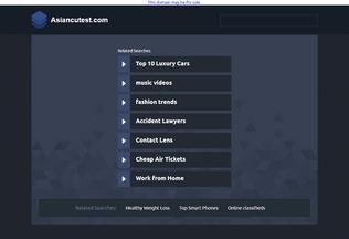 Website asiancutest.com desktop preview
