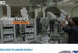Website askarishoes.com.pk desktop preview