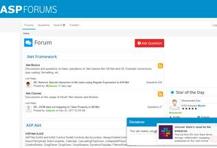 Website aspforums.net desktop preview