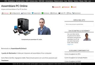 Website assemblarepconline.it desktop preview