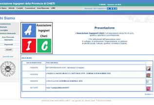 Website associazioneingegnerichieti.it desktop preview