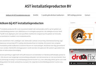 Website astinstallatieproducten.nl desktop preview