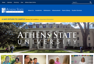 Website athensstate.net desktop preview