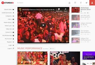 Website atunda.tv desktop preview