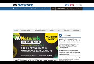 Website avnetwork.com desktop preview