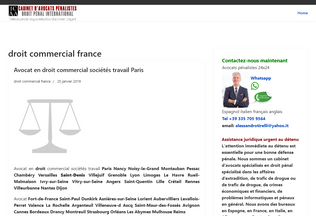 Website avocatcommercial.fr desktop preview