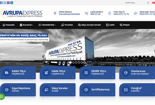 Website avrupaexpresslojistik.com desktop preview