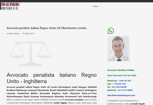 Website avvocatiitaliani.co.uk desktop preview