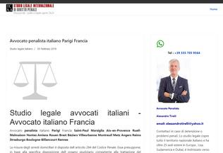 Website avvocatoitaliano.fr desktop preview