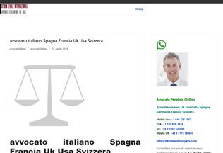 Website avvocatoitaliano.it desktop preview