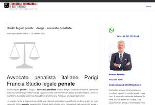 Website avvocatopenalista.fr desktop preview