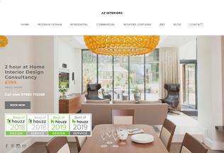 Website az-interiors.co.uk desktop preview