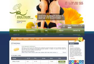 Website azithromycin2019.com desktop preview