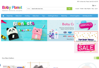 Website babyplanet.pk desktop preview