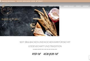 Website baeckerei-ruf.de desktop preview