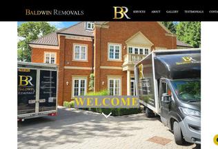Website baldwinremovals.co.uk desktop preview