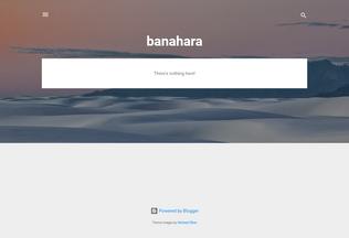 Website banahara.blogspot.com desktop preview