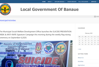 Website banaue.gov.ph desktop preview