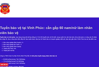 Website baoveanninhphiabac.ga desktop preview