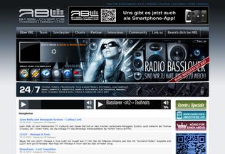 Website basslover.de desktop preview
