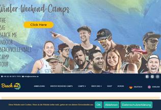 Website beachme.de desktop preview