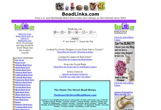 Website beadlinks.com desktop preview