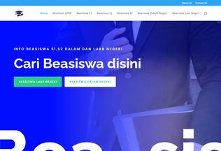 Website beasiswa.info desktop preview