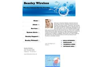 Website beasleywireless.net desktop preview