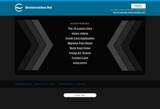 Website bednbreakfast.net desktop preview