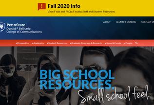 Website bellisario.psu.edu desktop preview