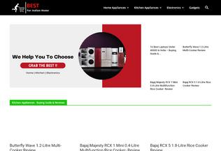 Website bestforindianhome.com desktop preview