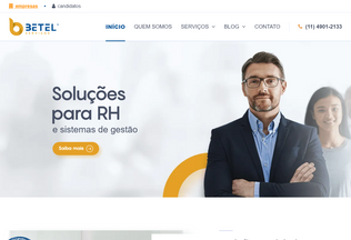 Website betelservicos.com.br desktop preview