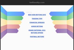 Website betfixedtip.com desktop preview