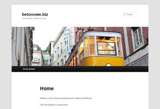 Website betonowe.biz desktop preview