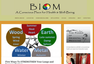 Website biom.net desktop preview
