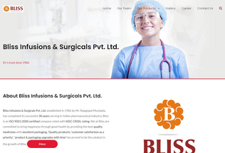 Website blissasia.in desktop preview