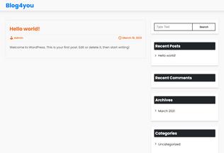Website blog4you.in desktop preview
