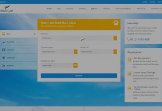 Website bookme.pk desktop preview
