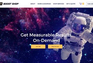 Website boost-shop.io desktop preview