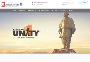 Website boukametals.com desktop preview
