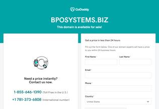 Website bposystems.biz desktop preview
