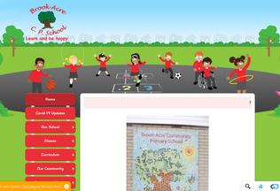 Website brookacre.co.uk desktop preview