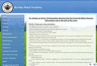 Website burnleyroadacademy.org desktop preview